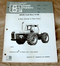 "White Farm Equipment ""Power Pointers"" 4-150 Tractor Dealer Brochure-ca 1970!"