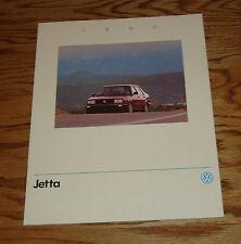 Original 1990 Volkswagen VW Jetta Sales Brochure 90