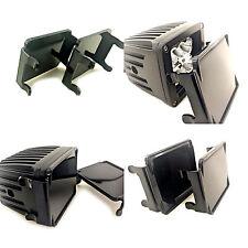 4x 3x3 LED POD Light LENS COVER FOR 3x3 Off-ROAD WORK LIGHT BAR 16W 24W Black