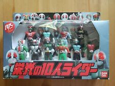 Vintage Kamen Rider Action Figures Set of 10 Made in Japan Bandai Ban Dai