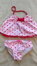 NWOT Kate Mack Girls Authentic Two Piece Swimsuit Bikini 4T pink polka dot