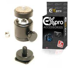 """Cámara SLR ex-Pro Compacta Giratoria Mini bola Head Flash Adaptador De Zapata D 1/4"""""""