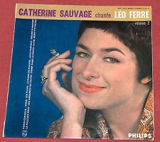 CATHERINE SAUVAGE CHANTE LEO FERRE 25 CM VOLUME 2