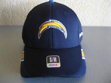 NEW San Diego Chargers Hat S/M Reebok NFL On Field Blue Bolt Logo Flexfit Cap