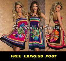 Sun Flower Dress Casual Beach Dress Shirred Bust Strapless