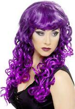 Nero & Porpora SIRENA Witch lunga parrucca riccia Cosplay Costume P5808