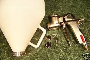 AIR WALL and CEILING TEXTURE HOPPER GUN Round 3 Nozzle Fluid Control Knob Light