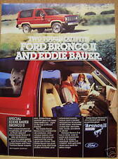 1984 VINTAGE FORD BRONCO 11  ad advertisement