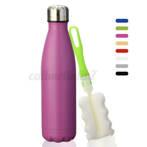Stainless Steel Water Bottle - Vacuum Insulated Metal Sport & Gym Drinks Flask