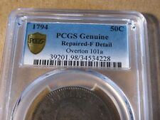 1794 Flowing Hair Half  Dollar / PCGS Fine / 1ST. Year