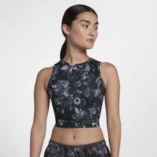 Nike Epic Lusso da Donna Corsa Canotta XS Nero Grigio Palestra Corsa Yoga