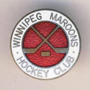 old WINNIPEG MAROONS Ice HOCKEY club PIN BADGE Canada