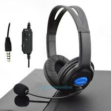 Gaming Headset Stereo Kopfhörer mit Mikrofon 3,5mm für PS4 Playstation 4 / PC