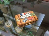 Halcyon Days Enamel Box - Suitcase, Life's is a Journey, Luggage