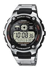 Runde Casio Armbanduhren aus Edelstahl mit Glanz-Finish