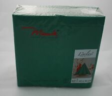50 Mank Linclass Linen Feel Paper Napkins 40 x 40cm - Forest Green