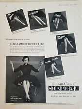 1955 Camafeo Bur-Mil Forma 2u Mujer las Medias Calcetines Moda Original Anuncio