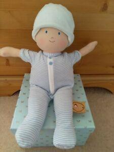 Bonikka Soft Baby Boy Doll. Blue Striped Comforter Toy ⭐