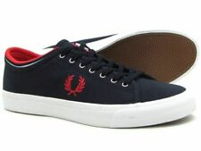 FRED PERRY KENDRICK TIPPED CUFF CANVAS NAVY NEW WITH BOX EUR 44 UK 9,5 US 10,5