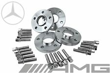 4 Mercedes Benz 5x112 Staggered 15 Mm & 20 Mm Hub Centric Spacers W/ Lug Bolts (Fits: Mercedes-Benz)