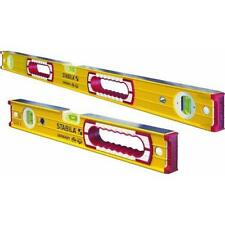 "Stabila Aluminum Box Beam Carpenter Level Set 16"" & 48"" Lengths 37816"