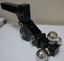 "Heavy Duty Adjustable 2"" Receiver Hitch Tri Ball 3 Way Triple Tow FREE SHIP"