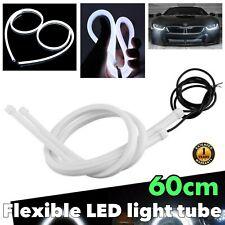 60cm White Universal Rubber LED Flexible DRL Daytime Bumper Glow Fog Light BA