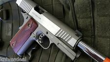 Colt Full Metal Rail Gun 1911 CO2 Blowback Airsoft Pistol Stainless