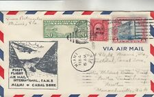 Miami-Canal Zone First Flight Cover