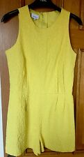 Ladies Playsuit, Brand New, Next, Yellow, Size 8