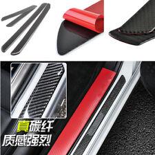 4pcs Car Door Scuff Plate Carbon Fiber Sill Trim Panel Cover Step Protector Pad Fits 1985 Supra