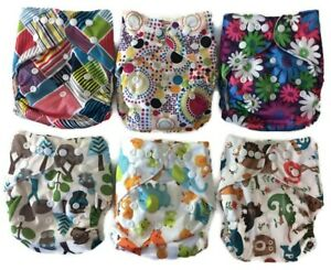 Reusable Bamboo Cloth Diaper Pocket Diaper Plus Absorbent Terry Insert