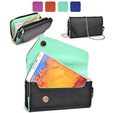 KroO Fad PU Leather Protective Wallet Case Clutch Cover for Smart-Phones XLUB4