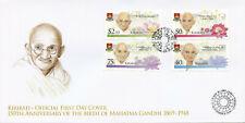 Kiribati 2019 FDC Mahatma Gandhi 4v Set Famous People Historical Figures Stamps