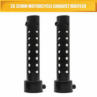 2x 35mm universale Motociclo Silenziatore Inserto Baffle  SCARICO curva SILENCER