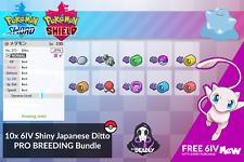 Pokemon Sword Shield | 10 6IV ULTRA SHINY JPN BREEDING DITTO'S PLUS FREE MEW!