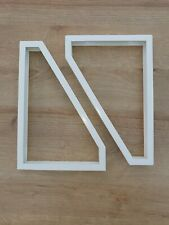 Pair of White Ikea Ekby Lerberg Shelf Brackets
