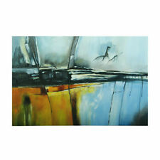 Modern Abstract Metope Hand Painted Art Canvas Oil Painting Home Decor (Framed)