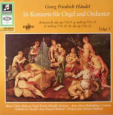 """HÄNDEL 16 CONCIERTOS DE ÓRGANO JEAN-FRANÇOIS PAILLARD EPISODIO 3 12"""" LP (c301)"""