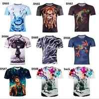Women Men Tee Shirt Fashion Short Sleeve 3D Print Round Top Funny T Shirt YF248