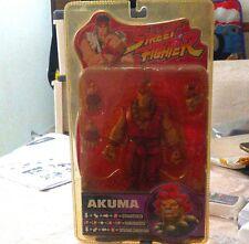 NIB Street Fighter Round 4 AKUMA Action Figure SOTA TOYS Red Suit