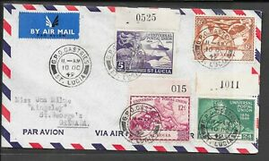 ST LUCIA 1949 FDC UPU