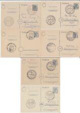 Deutschland - 1947-1948, kleiner Bestand von sechs gest. Belegen - bitte ansehen