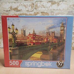 """Springbok Westminster Bridge 500 Piece Jigsaw puzzle 18""""x 23.5"""" USA"""