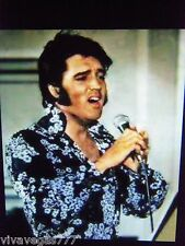 (MEDIUM)  Elvis (B/W FLORAL Puffy Shirt) Tribute Artist Costume (Jumpsuit Era)
