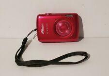 Nikon Coolplix S-01 10.1MP HD 720p Compact Camera Hot Pink no charging cable