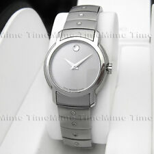 Women's Movado SPORTS LUXURY SL Silver Dial Stainless Steel Swiss Watch 0605645
