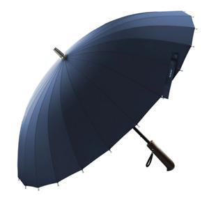 Large Long Umbrella Men Women 24K Black Blue Windproof Wood Handle Golf Japanese
