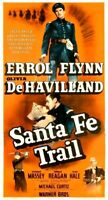 poster on linen SANTA FE TRAIL 1940 USA 3sht 41x81 LINENBACKED Errol Flynn RARE