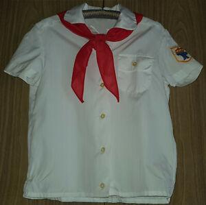 DDR Pionierbluse Pionierhemd mit Halstuch Pionier Bluse Hemd Jung Pionier Gr 140
